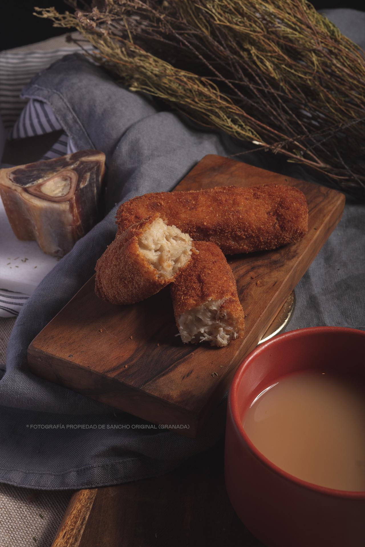 Croquetas de la abuela María, de jamón y pollo de Sancho Original